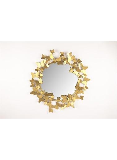 Mikasa Moor Gold kelebekli yuv ayna 70 cm Altın